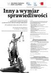 """Plakat promujący konferencję otwierającą projekt pt. """"Podnoszenie wrażliwości sędziów i prokuratorów w zakresie równego traktowania"""""""